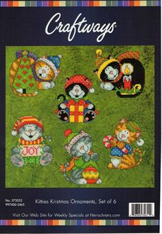 Encontrado en Uploaded by user CROSS STITCH KITTY CAT ORNAMENTS 1/7