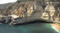 Praia do Paraíso Carvoeiro Lagoa Algarve (HD)