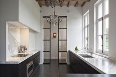 Modern Kitchen Interior DPAGES – a design publication for lovers of all things cool Kitchen Interior, Kitchen Decor, Interior Door, Kitchen Office, Glass Kitchen, Design Kitchen, Modern Interior, Bespoke Kitchens, Contemporary Bedroom