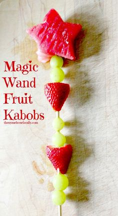 Magic Want Fruit Kabobs from SomewhatSimple.com #fruit #kabobs