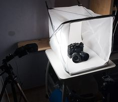 I received an excellent list of Ikea light tent hacks from Chris. Easy peasy and most of all, super cheap. This is using the Liesta laundry hamper. I couldn't find the Liesta on the website but found a rather similar one called the Fyllen. An energy saving lamp is added to it, from the back. [&hellip