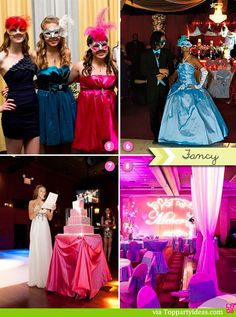 Sweet 16 Party Celebrations - Formal parties, masquerade, mardi gras