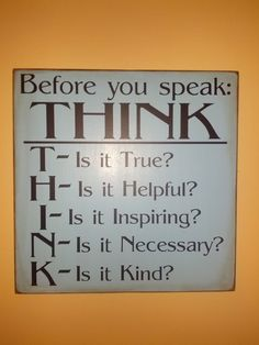 VINYL decal Before You Speak THINK by UDreamItVinyl on Etsy