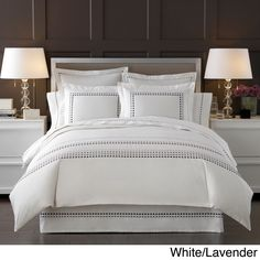 This luxurious bedding collection is made of the finest Egyptian cotton yarns which created this 300 thread count fabric with a uniquely soft, smooth touch. The ultimate in natural fabric luxury, it's softness is incomparable.