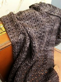 So pretty knit in Mrs. Crosby Carpet Bag yarn. >> Ravelry: Voyager Wrap pattern by Julie Dietz