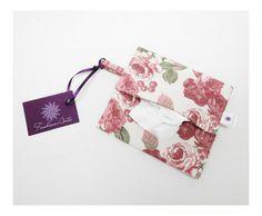 Porta absorvente ou lenços floral - FashionArts - Artesanatos da Moda