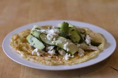 Recipe of the day: Open omelette with asparagus, courgette, chicken and feta / The Body Coach Blog / The Body Coach