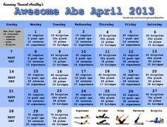 Running Toward Healthy: Awesome Abs April Challenge