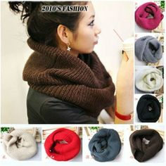 New hot! Unisex Winter knitting Wool Collar Neck Warmer Scarf Shawl Freeshipping-in Scarves from Apparel & Accessories on Aliexpress.com