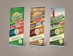Sport or Adventure Camp Roll-up Banners by kinzi.deviantart.com on @deviantART
