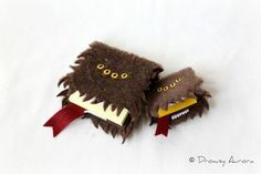 Post-It Note Monster Books - Just stroke the spine, it'll calm right down.: