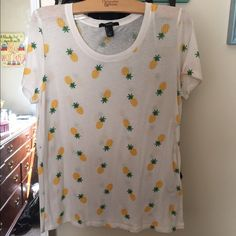Pineapple shirt size large Never worn but super cute Tops