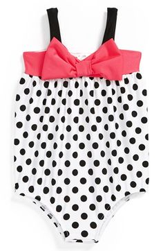 Love U Lots One-Piece Bubble Swimsuit (Baby Girls) available at #Nordstrom