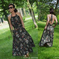 Profiter de la douceur d'une journée à la campagne pour porter ma nouvelle robe... la robe Eugenie de @delphinemorissette Elle tourne et virevolte, un dos qui ne demande qu' à prendre le soleil... Et ce crêpe de viscose... (@eglantineetzoe ), il est carrément fait pour ce patron ♡ * #eugenie #robeeugenie #handmade #jeportecequejecouds #delphineetmorissette #courureaddict #coutureblog #couture #cousumain #happyday #robeeugenie #dresspattern #eugeniedelphineetmorissette