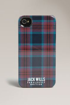 Jack Wills Fermore Phone Case~Navy Check