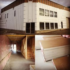 Ready for siding and drywall! Drywall, Showroom, Garage Doors, Outdoor Decor, Home Decor, Decoration Home, Room Decor, Home Interior Design, Fashion Showroom