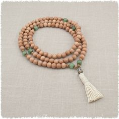 108 Mala Beads Necklace Meditation Necklace in by GoldenLotusMala
