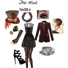 The Mad Hatter by nchavez113 on Polyvore featuring Freda, Jonathan Aston, Giuseppe Zanotti, Holy Harlot, Topshop and Disney