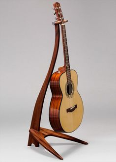 Guitar Stand - Whenever They Learned About This Article About Learning Guitar, The Experts Shook Guitar Hanger, Guitar Tabs, Wooden Guitar Stand, Guitar Storage, Simply Learning, Music Stand, Classical Guitar, Stand Design, Fine Furniture
