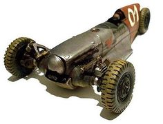 With a airplane motor up front (no blades). Dieselpunk: the Talon Armadura Steampunk, Velo Cargo, Reverse Trike, Engin, Go Kart, Dieselpunk, Retro, Concept Cars, Custom Cars