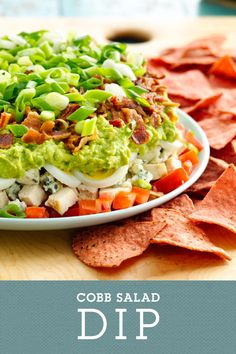 Cobb Salad Dip is a fun twist on the classic cobb salad. This dip packs well for baseball games and other springtime adventures. Try it with Food Should Taste Good Jalapeño chips for an extra flavorful punch.