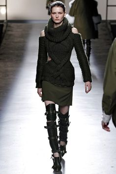 Prabal Gurung leather boots. Military goth buckle fierce tough luxe