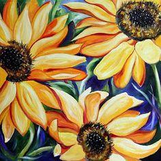 Sunflowers, more http://www.pinterest.com/lenaleus/sunflowers/