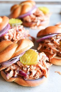 BBQ Pulled Chicken Sandwiches  - Delish.com