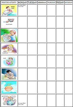 kids schedule chart | kids charts