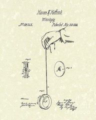 Patent Framed Prints - Whirligig 1867 Patent Art Framed Print by Prior Art Design