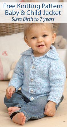 Baby Knitting Patterns Free Newborn, Baby Cardigan Knitting Pattern Free, Knitting Patterns Boys, Baby Sweater Patterns, Knit Baby Sweaters, Knitting For Kids, Baby Patterns, Free Knitting, Baby Knits