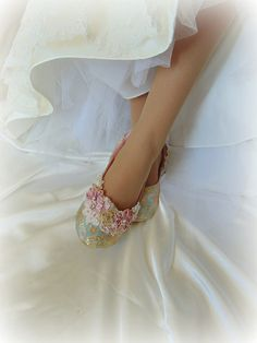 Cinderella Wedding Shoe Something Blue Ballet by HopefullyRomantic