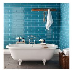 10 Bathroom Tile Ideas For The Neutral Lover And For The Inside Bathroom Ideas With Blue Tile - Best Home Decor Ide Master Tub, Master Bathroom, Modern Shower Doors, Bathroom Signs, Bathroom Ideas, Blue Tiles, White Bathroom, Diy On A Budget, Design Thinking