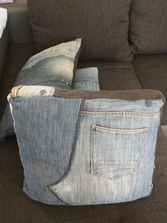 cushions from jeans