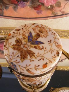 Art Nouveau Jewelry Casket Dresser Box European by megsantiques
