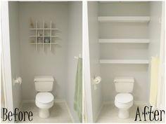 floating shelf ideas for bathroom
