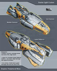 Xavier Light Cruiser by *KaranaK