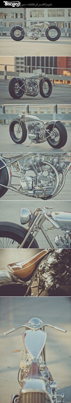'The Musket' Royal Enfield V-twin:: Hazan Motorworks.|8negro