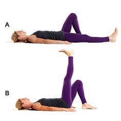 Leg raises: Prevent knee pain by working these healthy knee exercises into your workout routine. Womens Wellness, Health And Wellness, Health Fitness, Leg Raise Exercise, Knee Exercises, Workout Exercises, Burn Stomach Fat, Psoas Muscle, Leg Raises