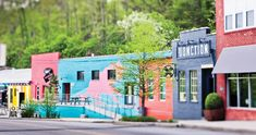 Booming businesses have long since faded away, but the Asheville River Arts District's creative spirit never died. Nc Mountains, North Carolina Mountains, Western North Carolina, Asheville North Carolina, Ashville Nc, Spring Break Destinations, Travel Destinations, Wanderlust, Villa