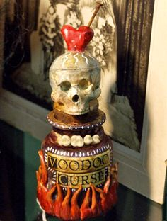 Voodoo Curse Potion Bottle
