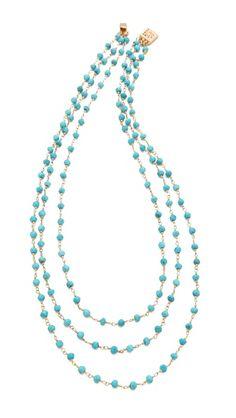 Heather Hawkins 3 Layer Gemstone Necklace
