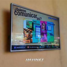 Quieres comunicar así? Es hora de la innovación. Ingresa ya mismo en www.imvinet.com para más información... Want to communicate like this? It's time for innovation visit our web www.imvinet.com for more information. ---------------------------- #digitalsignage #digitalmenuboard #corporatedigitalboard #marketing #rrpp #retail #mercadeo #tecnología #technology #imvinet #hechoenimvinet #poweredbyimvinet.