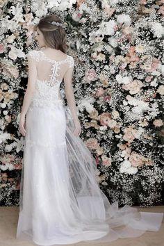 Vestido de noiva renda casamento - Detalhe costa (Estilista: Danielle Benício | Foto: Daniela Nogueira)