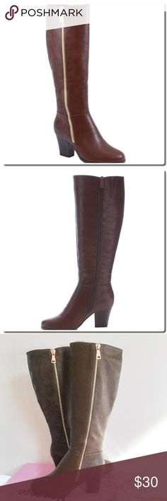 Reneeze Pearl 02 Two tone Boots NWOT A great sexy knee high boots. Be safe and pair it with your favorite sexy jeans. The looks and style could be designated as riding boots, sleek semi pointed design of the toes, Soft and comfortable inside. Zip and slip-in closure. With approximately 3inc heels, 12inc shaft and 14inc circumference. Synthetic material, man made PU Sole. 2 zipper, one is for embellishment only. Reptile textured material- slight scuff mark on left boot- last photo. Shoes…