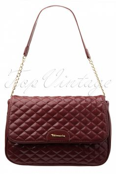 Tamaris - 50s Dry Rose Patent Coco Chanel Style Classic Quilted Bag