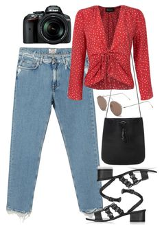 """""""Untitled #6202"""" by rachellouisewilliamson ❤ liked on Polyvore featuring Acne Studios, Topshop, Yves Saint Laurent, Illesteva and Nikon"""