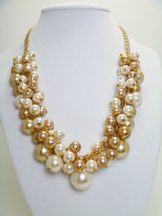 Hey, I found this really awesome Etsy listing at https://www.etsy.com/listing/107676492/ivory-and-champagne-pearl-necklace