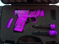 Hot Purple Zebra Stripe - Walther PPS 9mm Pistol - www.tzarmory.com