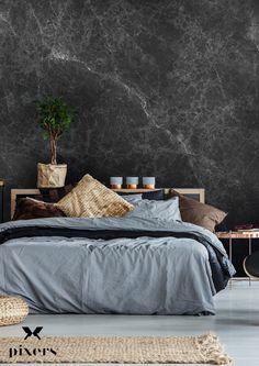 50 Best Bedroom Design Ideas for 2019 - The Trending House Gray Bedroom Walls, Black Bedroom Design, Scandi Bedroom, Bedroom Sets, Bedroom Colors, Bedroom Decor, Bedrooms, Living Room Furniture Layout, Living Room Designs